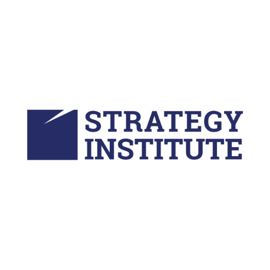 Strategy Institute logo in blue